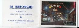 Bordeaux (33 Gironde) Calendrier 1963 LA BABOUCHE Bonneterie (PPP14410) - Calendriers