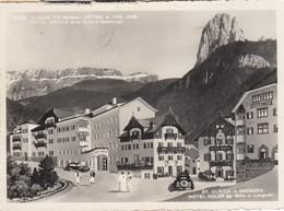 ST.ULRICH-ORTISEI-BOZEN-BOLZANO-IN GROEDEN-HOTEL =ADLER=-CARTOLINA VERA FOTOGRAFIA-VIAGGIATA IL 27-7-1957 - Bolzano