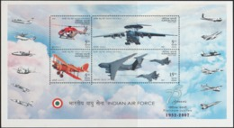 INDIA-2007   MINIATURE SHEET  / THE PLATINUM JUBILEE OF INDIAN AIR FORCE - India
