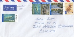 GOOD AUSTRALIA Postal Cover To ESTONIA 2018 - Good Stamped: Landscape/ Ship ; Animals - 2010-... Elizabeth II