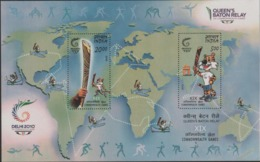 INDIA-2010   MINIATURE SHEET  / THE 19TH COMMONWEALTH GAMES,NEWDELHI(2nd Issue) - Unused Stamps