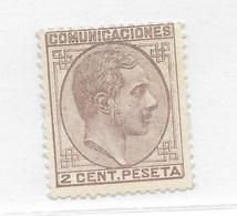 España. Sello De 2 Cts Nuevo Y Sin Goma. Edifil Nº 190 - 1875-1882 Reino: Alfonso XII