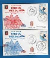 FDC. -  GROLLA CLUB - 1971 - TROFEO MEZZALAMA. Annulli  12/06/1971 Vedi Descrizione. - Sport Invernali