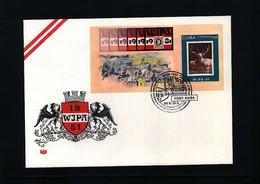 Cuba 1981 WIPA Block FDC - Cuba
