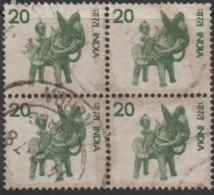 USED DEFINITIVE STAMP IN BLOCK ON PAPER /20 HANDICRAFT (Issued In 1974) - Blocks & Sheetlets