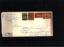 Cuba  Interesting Airmail Registered  Letter To Yugoslavia - Cuba