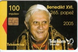 SLOVENIA SLOVENIJA PHONECARD 2005 PAPEŽ PAPEZ BENEDIKT XVI POPE  TELEKOM CAT.NO. 625 - Slovenia