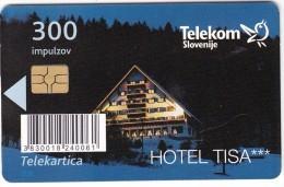 SLOVENIA SLOVENIJA PHONECARD 2010 HOTEL TISA POHORJE HOTELS   TELEKOM CAT.NO. 781 - Slovenia