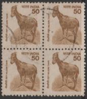USED DEFINITIVE STAMP IN BLOCK ON PAPER /50 NILGIRI  TAHR (Issued In 2000) - Blocks & Sheetlets