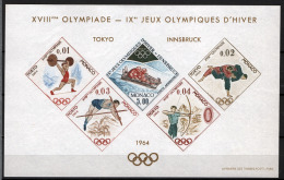 Monaco 1964 Tokyo Unif. BFS7 **/MNH VF - Blocks & Kleinbögen