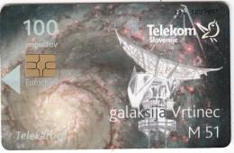 SLOVENIA SLOVENIJA PHONECARD 2009 WHIRLPOOL GALAXY M 51 LETO ASTONOMIJE INTERNATIONAL YEAR ASTRONOMY TELEKOM CAT.NO. 755 - Slovenia