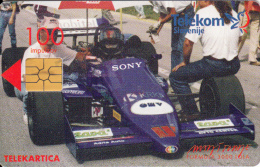 SLOVENIA SLOVENIJA  PHONECARD 1998  FORMULA LOLA 3000 OMW ISTRABENZ CARS RACING DRIVER  MATJAZ TOMLJE TELEKOM CAT.NO.130 - Slovenia
