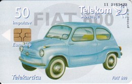 SLOVENIA SLOVENIJA PHONECARD 2005 FIAT 600 CARS AUTOMOBILE 100 YEARS AUTOMOTIVE IN SLO  TELEKOM CAT.NO. 614 - Slovenia