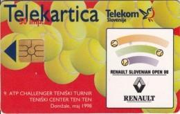 SLOVENIA SLOVENIJA  PHONECARD 1998 RENAULT  TENIS TENNIS SLOVENIAN OPEN 98  TELEKOM CAT.NO. 105 - Slovenia