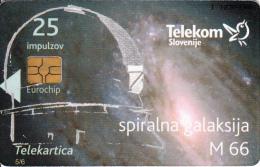 SLOVENIA SLOVENIJA PHONECARD 2009 SPIRAL GALAXY M 66 LETO ASTONOMIJE INTERNATIONAL YEAR ASTRONOMY TELEKOM CAT.NO. 757 - Slovenia