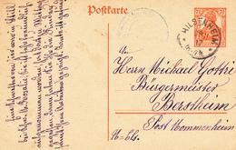 EP Michel P 110 Obl HILSENHEIM Du 28.11.17 Adressé à Berstheim - Marcophilie (Lettres)