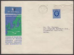 GB 1935 FFC England ,London To Malmo (Ref 372) - 1902-1951 (Koningen)