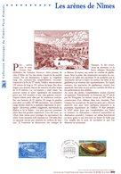 """"""" ARENES DE NIMES """" Sur Document Philatélique Officiel De 2002 N° YT 3470. (Prix à La Poste = 5.00 €) - Documents Of Postal Services"""