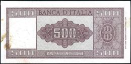 500 Lire Italia 23 03 1961 Q.spl Macchia Al Retro LOTTO 2220 - [ 2] 1946-… : Repubblica