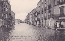 44-Nantes Les Inondations De 1904 Boulevard De La Liberté - Nantes