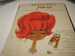 ANCIENNE PUBLICITE CHEVEUX ROJA NET LAQUE 1963 - Other
