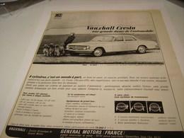 ANCIENNE PUBLICITE VOITURE  LA CRESTA PRODUCTION GENERAL MOTORS 1963 - Cars