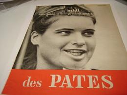 ANCIENNE PUBLICITE MIDI SON PREMIER PLAT DES PATES 1963 - Posters