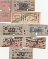 Petit Lot De 8 Tickets De Metro Anciens - Europe