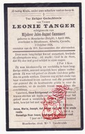 DP Leonie Tanger ° Moerkerke Damme BE 1866 † Strathmore Alberta CAN 1924 X J. Cammaert - Images Religieuses