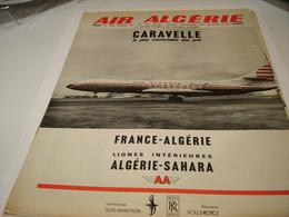 ANCIENNE PUBLICITE AIR ALGERIE AVEC CARAVELLE 1963 - Advertisements