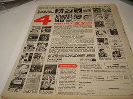 ANCIENNE PUBLICITE 4 DISQUES POUR LE PRIX D UN SEUL 1963 - Music & Instruments