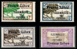 WALLIS ET FUTUNA 1941 - Yv. 93 96 97 106 NEUFS   Cote= 20,38 EUR - 4 Timbres Surch. France Libre  ..Réf.W&F22172 - Wallis And Futuna