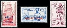WALLIS ET FUTUNA 1941 - Yv. 87 88 89 NEUFS **/*  Cote= 9,35 EUR - Défense De L'Empire (3 Val.)  ..Réf.W&F22195 - Wallis-Et-Futuna