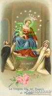 Santino Antico Cromolitografia LA VERGINE SS. DEL ROSARIO DI POMPEI - OTTIMO P68 - Religione & Esoterismo