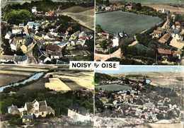 CPSM  Grand Format EN AVION AU DESSUS DE ...NOISY S / OISE Multiviues Colorisée RV - France