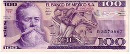Mexico P.74c 100 Pesos 1981 Au - Messico