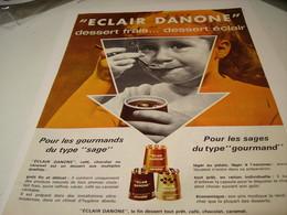 ANCIENNE PUBLICITE DESSERT FRAIS ECLAIR DANONE 1963 - Posters