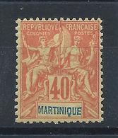 Martinique N°40* (MH) 1892 - Martinique (1886-1947)