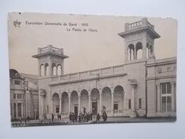 GENT- WERELDTENTOONSTELLING 1913 - Le Palais De L'Italie - ANIMATIE  -- NO  REPRO - Gent