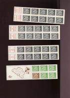 Belgie 1970 B3/B4/B5/B7 Carnet 3 4 5 7  Marchand Lunette Boudewijn Bril MNH + TELBLOK !!! - Carnets 1953-....