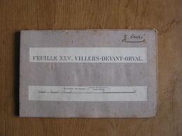 CARTE D' ETAT MAJOR MILITAIRE TOILEE Feuille XXV Villers Devant Orval Montmédy France 40.000 ème A Hacha 1907 - Cartes Topographiques