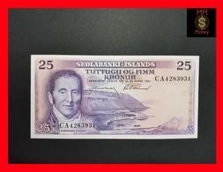 Iceland   25 Kronur 1961 P. 43 AU-UNC - Islande
