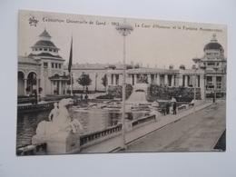 GENT- WERELDTENTOONSTELLING 1913 - La Cour D'Honneur Et La Fontaine Monumentale -  NO REPRO - Gent