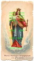 Santino Antico MARIA AUXILIUM CHRISTIANORUM Cromolitografia Fustellata - OTTIMO P68 - Religione & Esoterismo