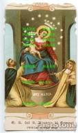 Santino Antico NOSTRA SIGNORA DEL SANTO ROSARIO DI POMPEI Cromolitografia Fustellata - OTTIMO P68 - Religione & Esoterismo