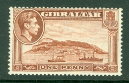 Gibraltar: 1938/51   KGVI     SG122ab    1d   [Perf: 13½  Wmk Sideways]  MNH - Gibilterra