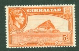Gibraltar: 1938/51   KGVI     SG125c    5d     MH - Gibilterra
