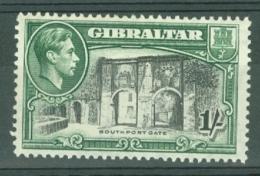 Gibraltar: 1938/51   KGVI     SG127b    1/-   [Perf: 13]   MH - Gibilterra