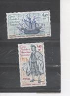 TERRES AUSTRALES Et ANTARCTIQUES Fçaises - Sebastian De EL CANTO, Découverte De L'Île D'Amsterdam -Portrait Et Bateau - Unused Stamps