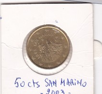 SAN MARINO . 50 Euro Cent 2003 - Saint-Marin